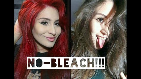 How To Dye Your Hair Bright Red Without Bleach At Home