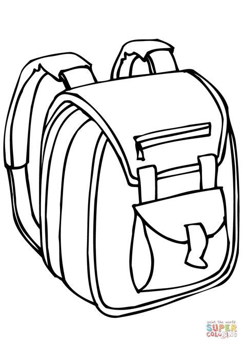 Rugzak Kleurplaat by School Bag Coloring Page Coloring For Backpacks