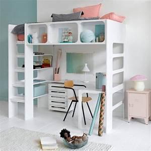 Lit Mezzanine Bureau Enfant : le lit mezzanine dans la chambre d 39 enfant marie claire ~ Teatrodelosmanantiales.com Idées de Décoration