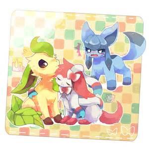 Pokemon Glaceon Leafeon Sylveon