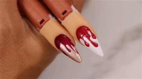 young nails vlog   blood drip nail style nails