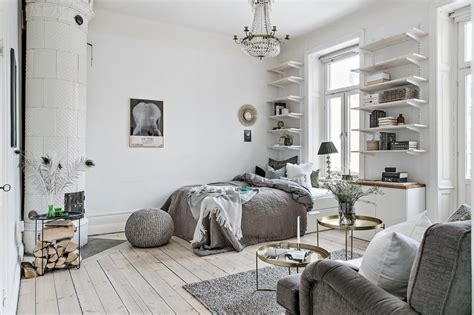Small Scandinavian Apartment Open Airy Design by Dreamy Scandinavian Studio Apartment Daily Decor
