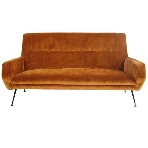 mid century italian velvet sofa at 1stdibs