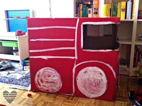 Kleinen Karton Basteln by Feuerwehrauto Basteln Aus Karton Dansenfeesten