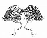 Armor Shoulder Leather Chinese Lamellar Breastplate Template Pads Woven Cord Pattern Form Metal Nsu Ru Carries Which Sketch источник sketch template