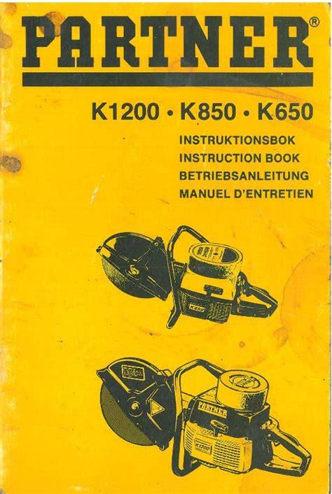 partner disc cutter     operators manual