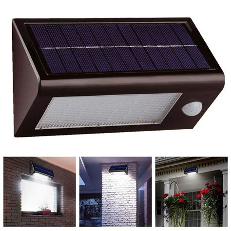 solar pir motion sensor security floodlight shed l