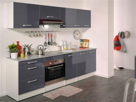 produit de cuisine ensemble cuisine quot shiny quot 2 4 m gris brillant 78744