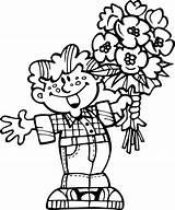 Coloring Flowers Bouquet Pages Printable Coloringtop sketch template