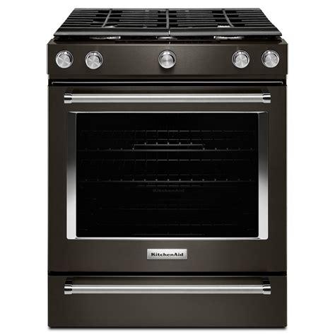 kitchenaid range kitchenaid 30 in 5 8 cu ft slide in gas range in black