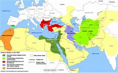 Islamic States History Middle East Map Maps