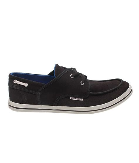 Converse Boat Shoes by Buy Converse Black Canvas Shoes For Snapdeal