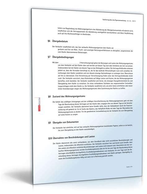 muster kaufvertrag eigentumswohnung kaufvertrag 252 ber eine eigentumswohnung muster vorlage