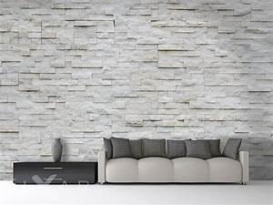 Mauer Wand Wohnzimmer : wand wie gemauert fototapete f rs wohnzimmer ~ Lizthompson.info Haus und Dekorationen