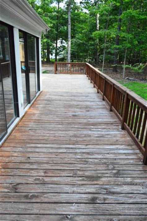 how to strip clean a deck for stain stains decks and puns