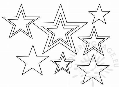 Stars Template Patriotic Coloring July 4th
