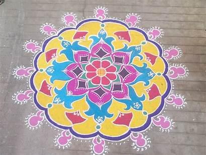 Rangoli Designs Diwali Patterns Happy Peacock Gujarati