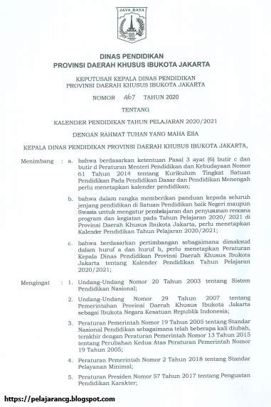 Năm nhâm dần (âm lịch). KALENDER PENDIDIKAN TAHUN AJARAN 2020/2021 DKI JAKARTA ...