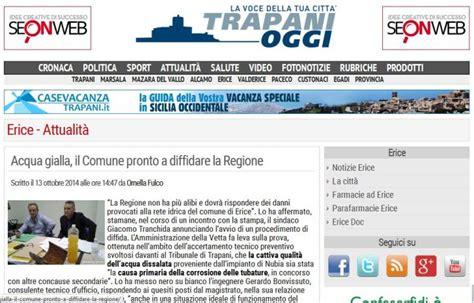 Comune Di Erice Ufficio Tecnico by Acqua Gialla Quel Precedente Nel Trapanese Il Giornale