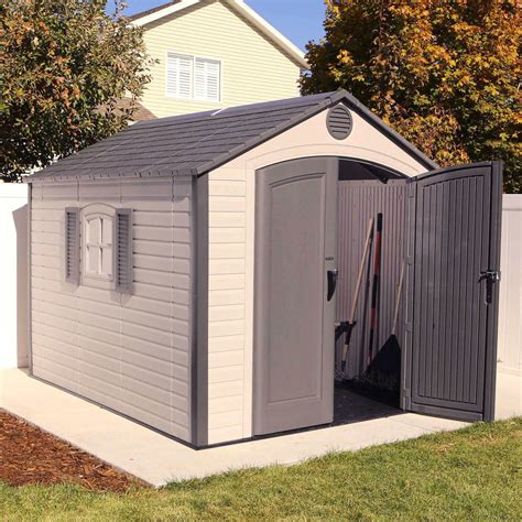 resin shed costco lifetime 8 x 10 outdoor storage shed uv protected