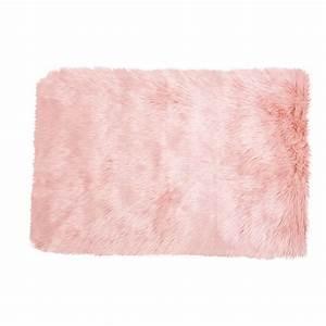tapis en fausse fourrure rose 80x120cm blush maisons du With tapis en fourrure