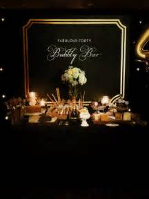 Black and Gold 40th Birthday Party Ideas