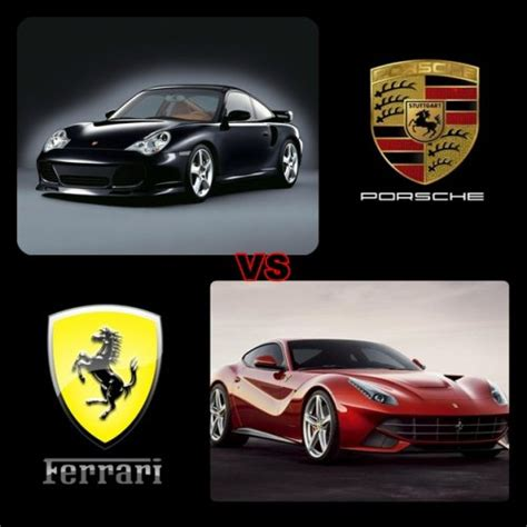 ferrari porsche logo porsche vs ferrari 1ère partie blog de x4 william