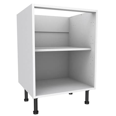 kitchen sink base unit carcass cooke lewis white standard base cabinet w 600mm 8444