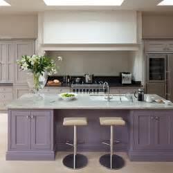 painted kitchen islands purple kitchen island painted kitchen design ideas decorating housetohome co uk