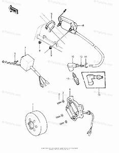 Kawasaki Motorcycle 1981 Oem Parts Diagram For Ignition