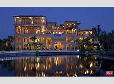 Incredible 4Story Tuscan Inspired Waterfront Mansion In