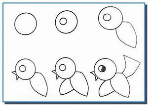 Easy Drawing for Kids Step by Step. Birds Drawing Tutorial ...