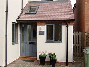 porch with side entrance and skylight driveway ideas With porch interior ideas uk