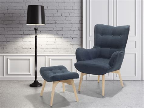 Armchair With Ottoman, Living Room Furniture, Upholstered