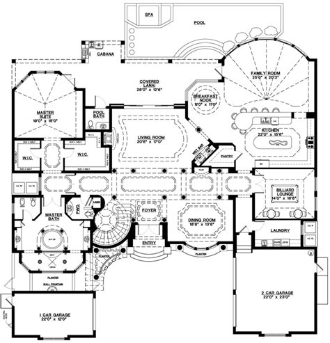 one story luxury home plans mediterranean home plans style house design at