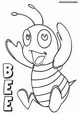 Bee Coloring Pages Print Colorings Bee4 Coloringway Animal sketch template