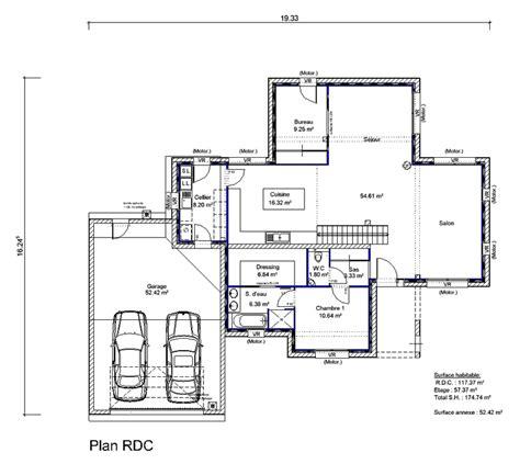 plan maison toit plat plan au sol du plan de maison toit plat maison amthyste modle de