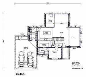 plan maison toit plat plan maison plain pied t4 7 de With cree sa maison en 3d 5 plan maison toit plat lys maisons clair logis