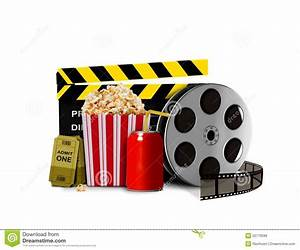 Pop Corn With Soda And Movie Equipment Stock Illustration ...