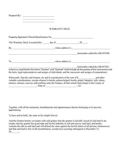 20953 warranty deed form template 43 free warranty deed templates forms general special