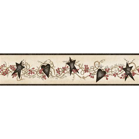 Chesapeake Paxton Tin Hearts And Stars Wallpaper Border