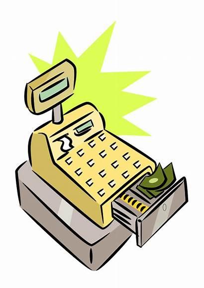 Cash Register Clip Cartoon Clipart Cliparts Electronic