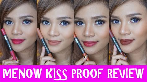 Kissproof Lipstick By Menow No 07 menow proof lipstick review bahasa