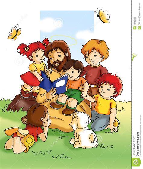jesus  enfants illustration stock illustration du