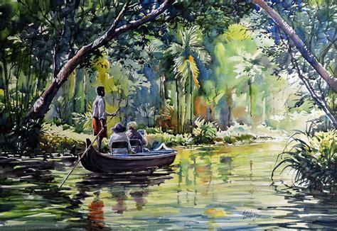 Kumarakom Backwater by artist Sunil Linus De