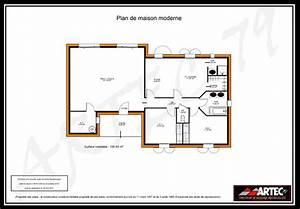 plan maison moderne 100m2 images With plan maison moderne 100m2