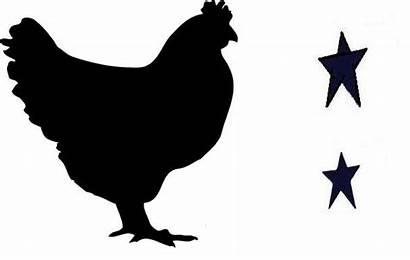 Chicken Stencil Stencils Printable Primitive Rooster Clipart
