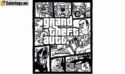 Gta Coloring Pages Theft Grand Colouring Pc
