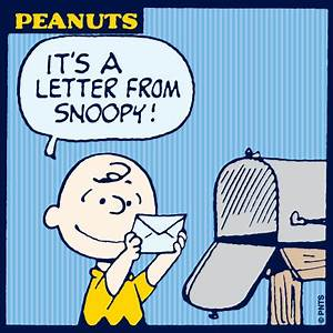 a letter from snoopy peanuts shareables pinterest With snoopy letters