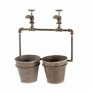 cache pot en metal h 48 cm gabin maisons du monde With cache pot maison du monde